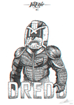 Inktober #1 - Day of Dredd by Solleck