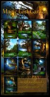 Magic Lost Garden backgrounds by moonchild-ljilja