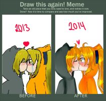Meme  Before And After by xDrinkagamine