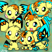 Too Many Pichu Brothers by HeartinaThePony