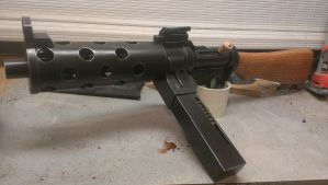 Bioshock Infinite machine gun replica. by weaselhammer