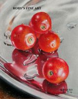 Nambe Plate And Tomatoes 4x5 Pastel by robybaer