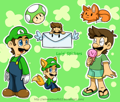 Luigi Stickers by MariobrosYaoiFan12