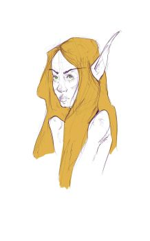 Blood elf sketch by Nuxxe