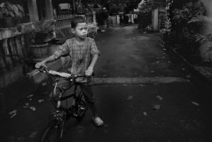 A boy and his bike by djati