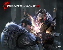 Gears of War 2 Chainsaw Battle by Flip0024