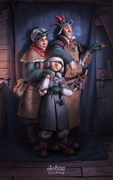 Airborn - Ice Setting 4 - Family Portrait by acapulc0