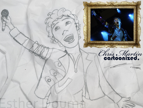 Chris Martin - Cartoonized by xPrincEstherr
