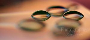 Free-floating water droplets. by Sparvoga