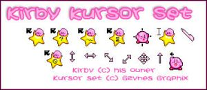 Kirby Kursor Set by Gezusfreek
