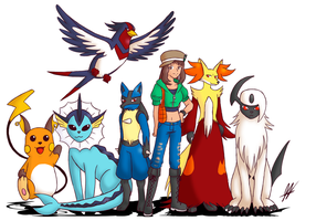 Pokemon Team X by Animeartist569
