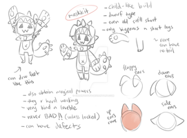 Maskkit Ref (sub species) by onigiryStuff