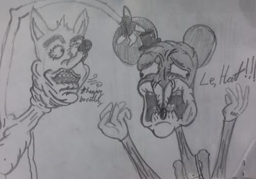 Le Hat with CrashBandicoot and MickyMouse by Slenderbrine123