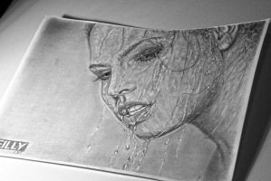 Drawing woman by keillly