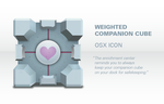 Weighted Companion Cube Icon by MacAddict17