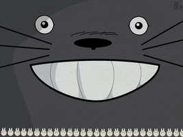 Totoro Hapiness Wallpaper by MeryAlisonThompson