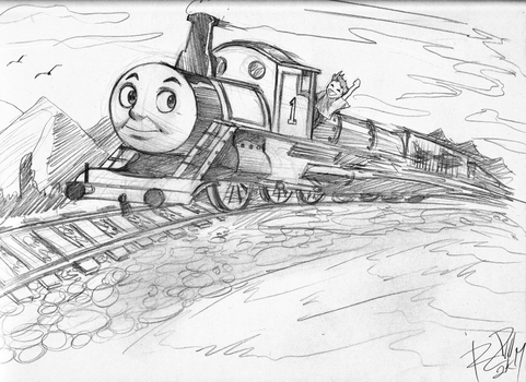 THOMAS2 sketch by Robaato by RBL-M1A2Tanker