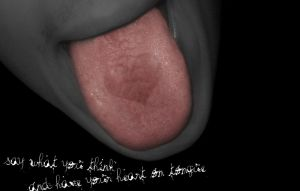Heart on tongue by pa-he