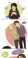 Commiss: Sherlock/John crack by blargberries