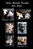 Maneki Neko Cat Art Dolls by Eviecats