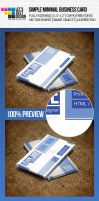 Simple Minimal Business Card by jasonmendes