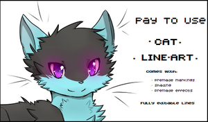 P2U Cat Line Art PSD by Charyu