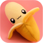 Banana plush by CherryAbuku