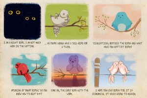 Different Types of Birds by Qupo
