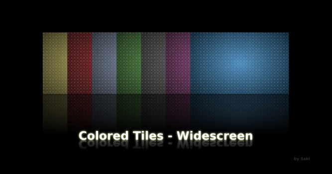 Colored Tiles - Widescreen by sa-ki