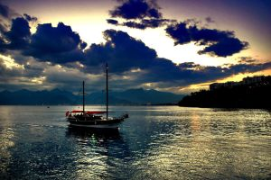 Sunset Boat 5435420 by StockProject1