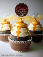 Salted Caramel Faux Cupcake by CreativeAbubot