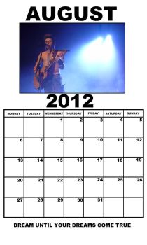 Reece Mastin Calender Page - August by WiDoWeD-VioLeTTe