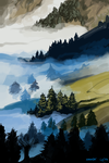 Day 48: Misty Mountains by kiranox