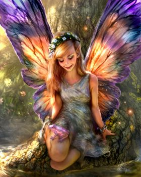 Faerie Digital Painting. by chrisscalf