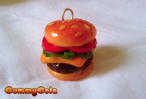 Burger Charm by Christine-E