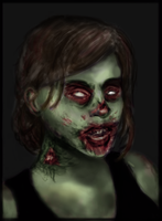 Zombie GURL [Colour] by checkityall
