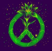 Original:Peace Flower by AXEL464