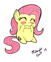 Tubby Fluttershy by MidnightQuill