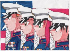 Yu Yu Gang Marines by HieisWoman