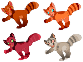 Red Panda Adoptables by Kitchiki