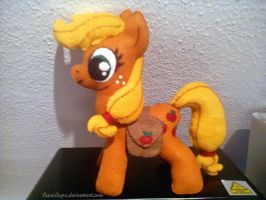 Applejack Plush (with saddlebags) by CaveLupa