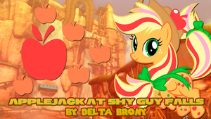 [MLP x Mario Kart 8] Applejack at Shy Guy Falls by DashieMLPFiM