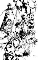 Street Fighter Tribute Inks by MahmudAsrar