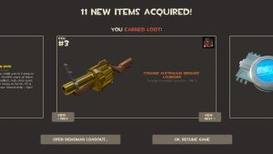 Shiny new golden weapon by toamac