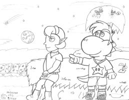 WIP 1 - YS and Saria by Yoshistar-Baxter