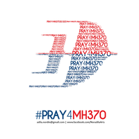 Pray for MH370 by Adila