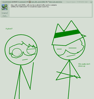 Ask Lifty and Shifty question 2# Dress up by Ask-Cat-and-OCs