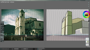 SpeedyPainter interface: Perspective grid overlay by speedy-painter
