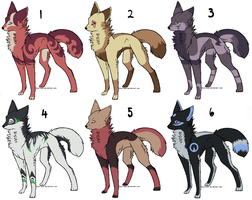 Adoptables batch 5 by Zolarise