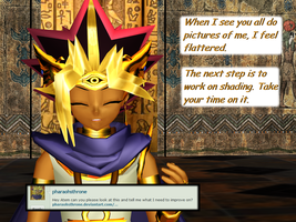 Question 1369 ~Flattered Pharaoh~ by AskMMDYugi